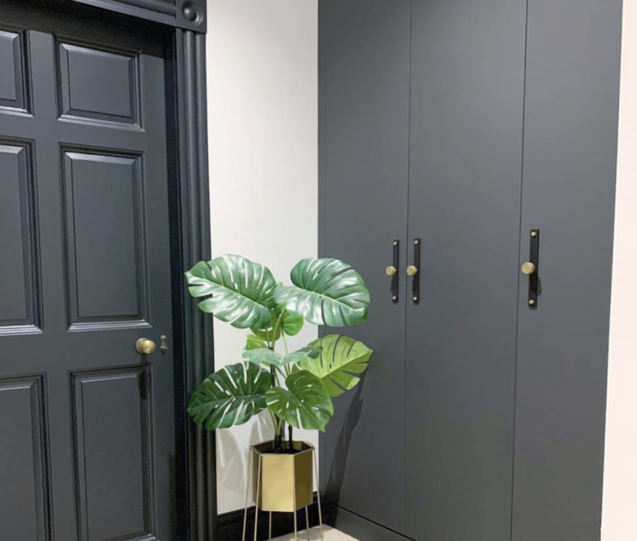 Mayfair wardrobes in Super Matte Charcoal